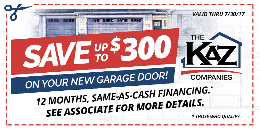 Garage doors buffalo ny raynor garage door systems for Garage appeal coupon code